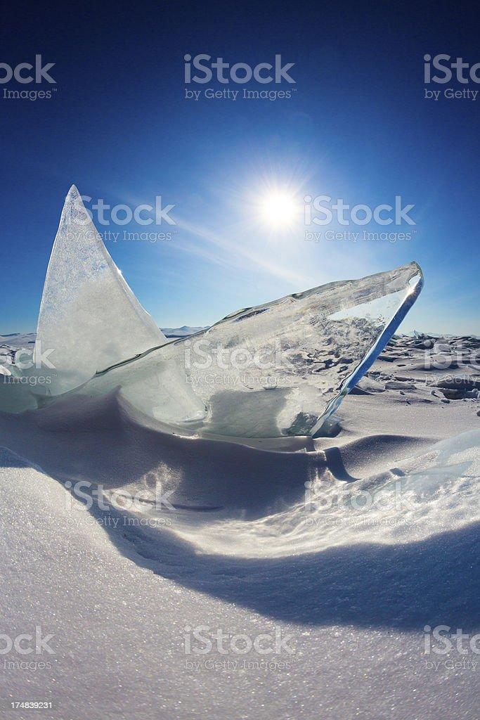 Ice on Lake Baikal royalty-free stock photo