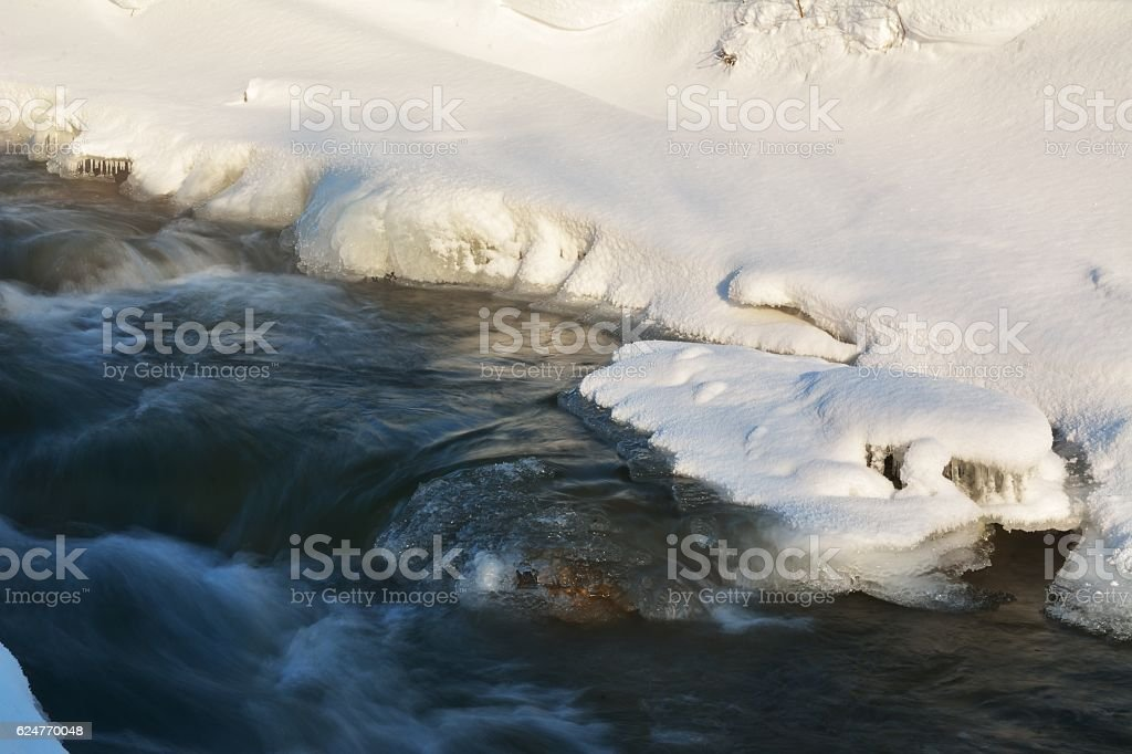ice on river stock photo