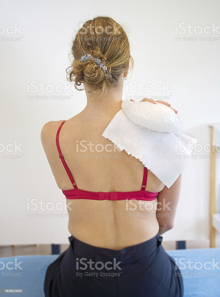 Ice on shoulder royalty-free stock photo