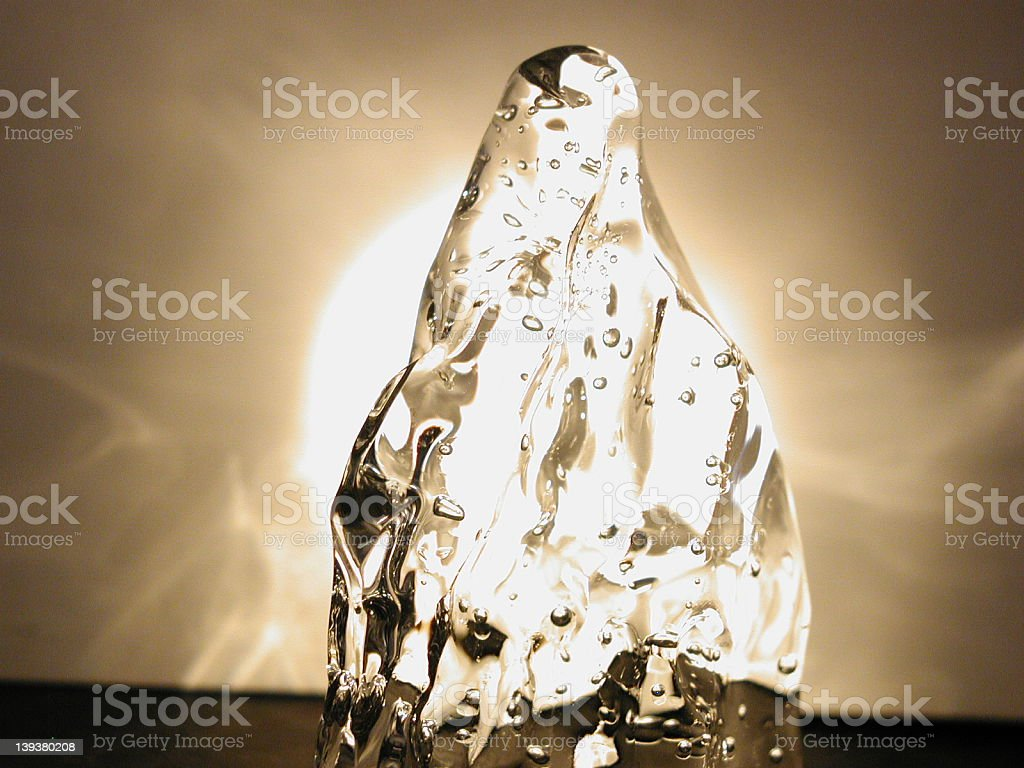 Ice on the light royalty-free stock photo