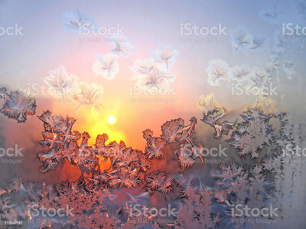 ice patterns and sun royalty-free stock photo