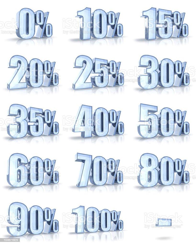 Ice Percent Tags stock photo