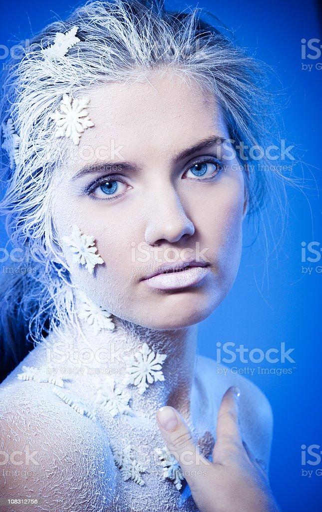 Ice queen portrait royalty-free stock photo