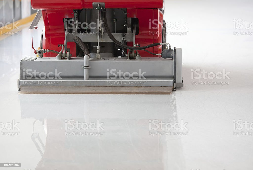 Ice resurfacing machine royalty-free stock photo