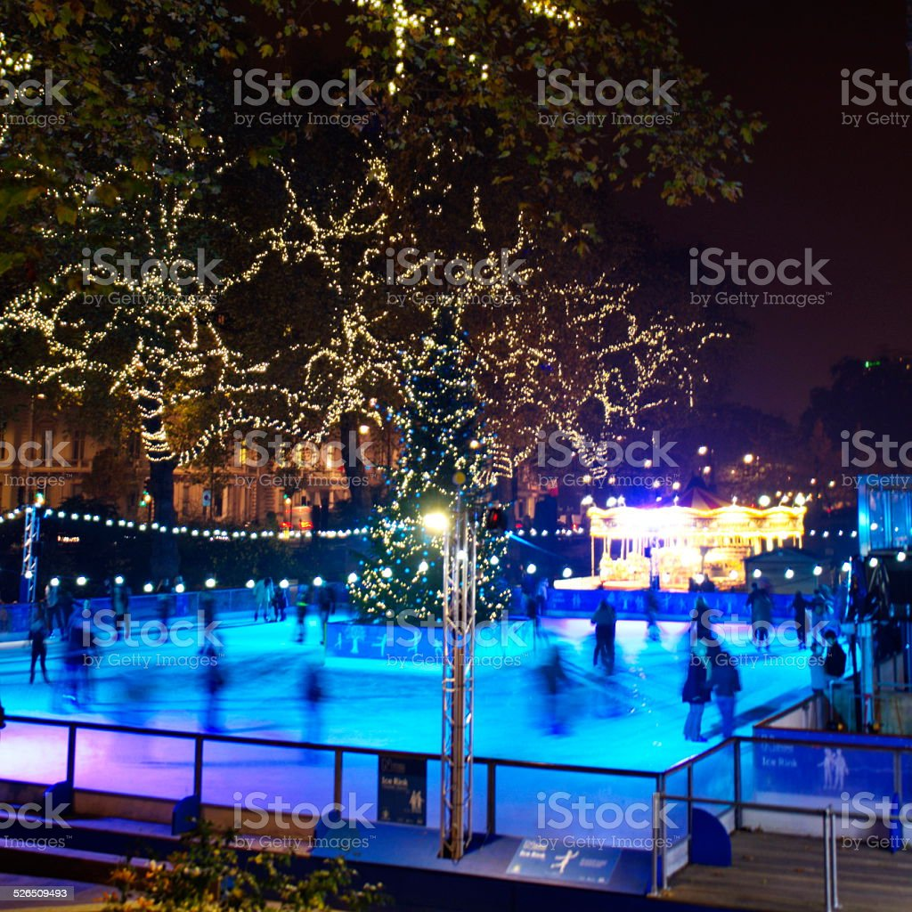 ice rink stock photo