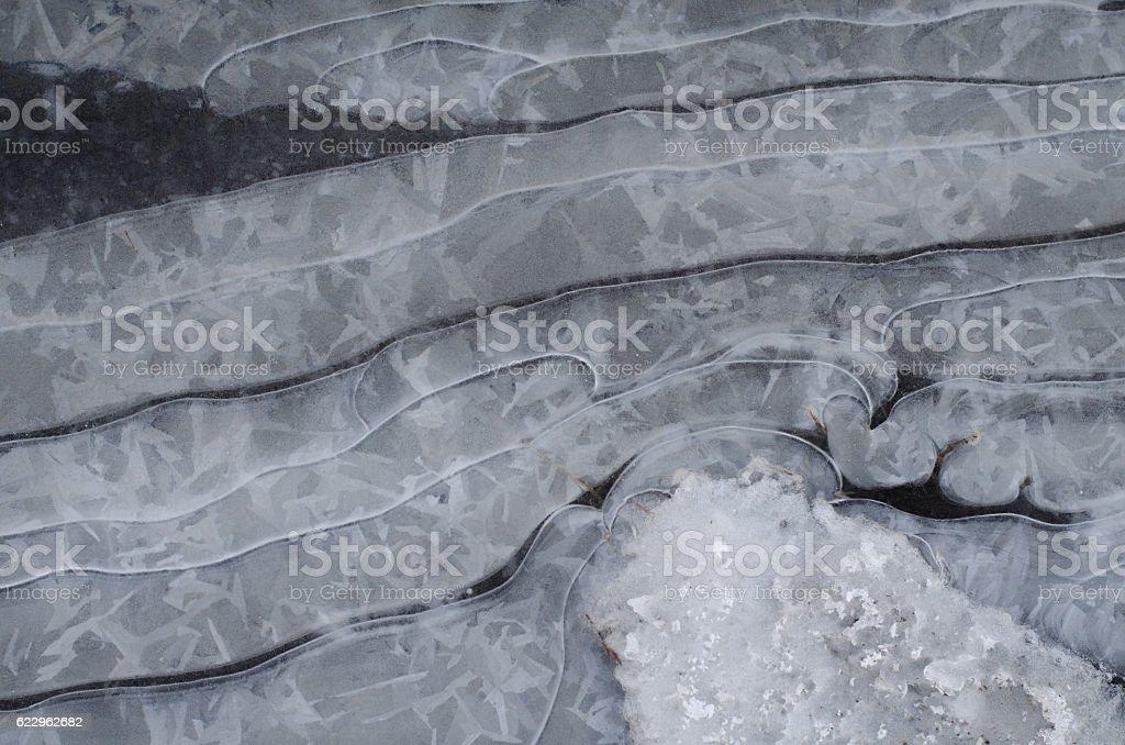 Ice ripple stock photo