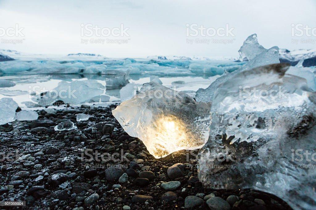 Ice Rock stock photo
