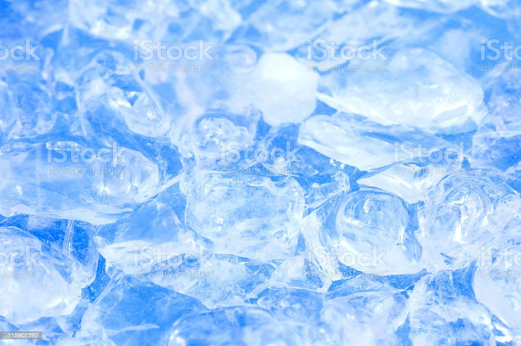 ice, salt and blue water royalty-free stock photo