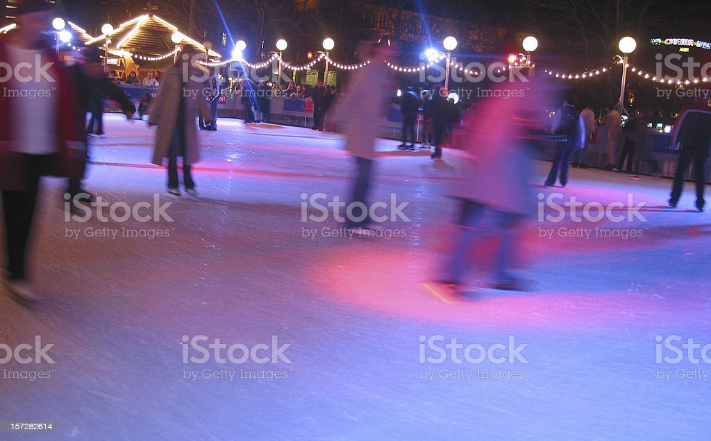 ice scating disco royalty-free stock photo