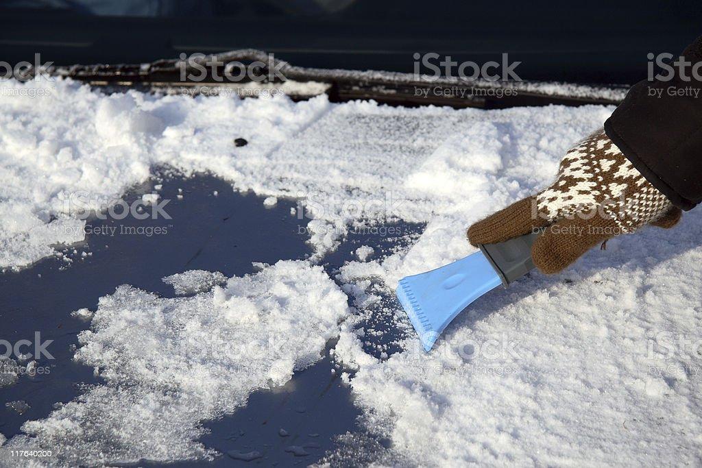 ice scraper stock photo