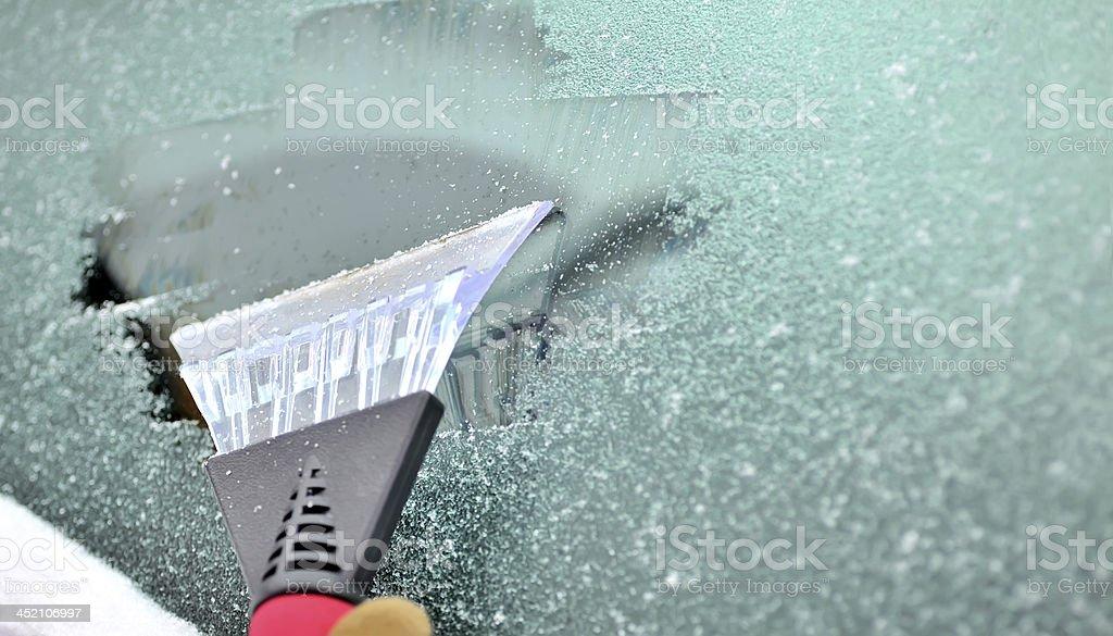 ice scraping stock photo