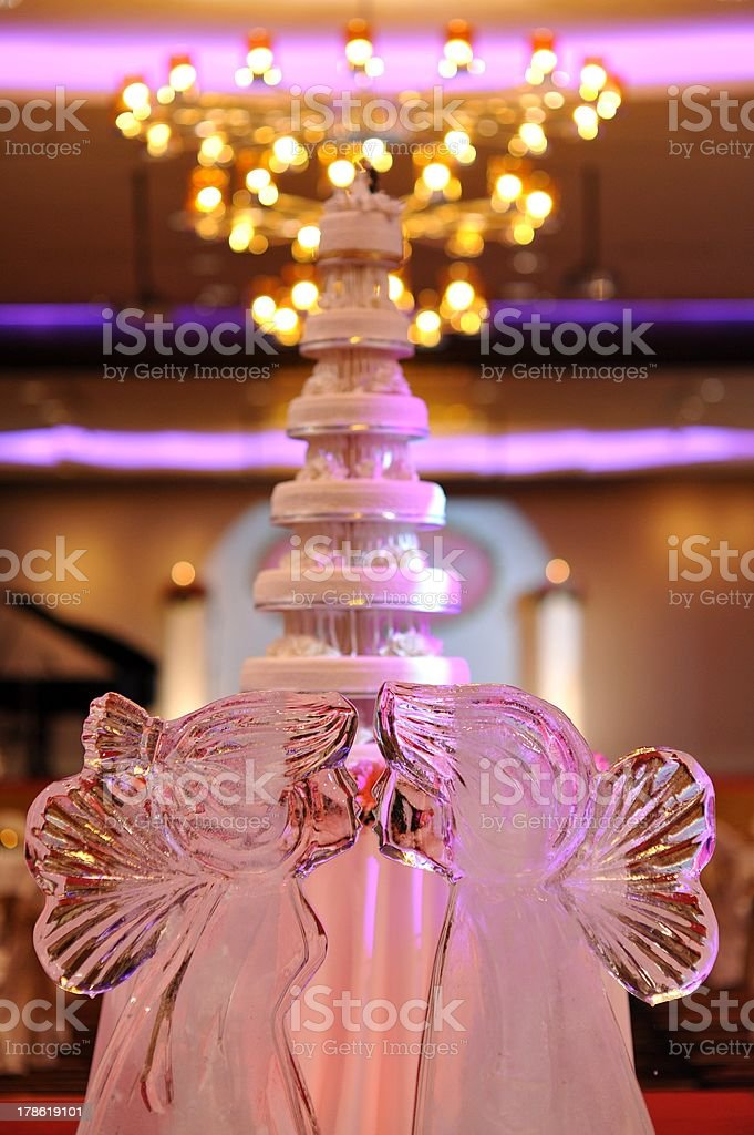 Ice Sculpture at Wedding stock photo