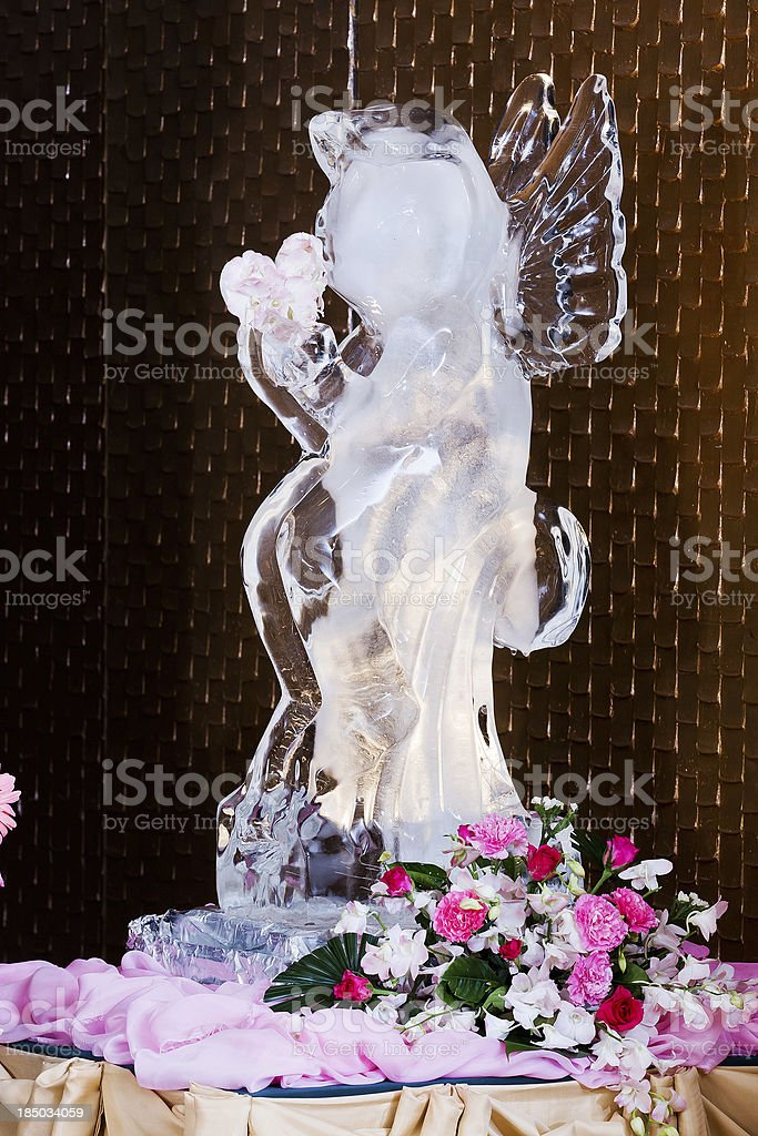Ice Sculpture at Wedding royalty-free stock photo