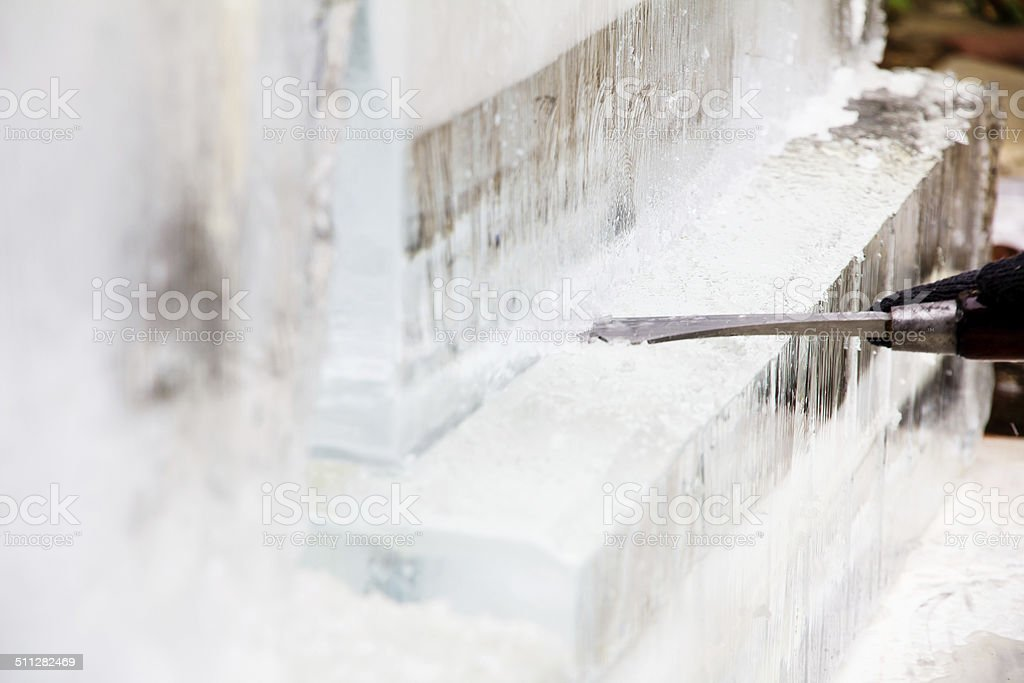 Ice Sculpture Carving stock photo