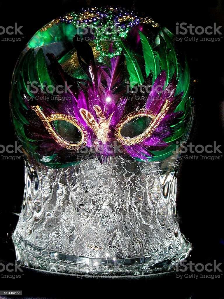 Ice Sculpture Mask royalty-free stock photo