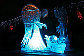 Ice sculpture of angels