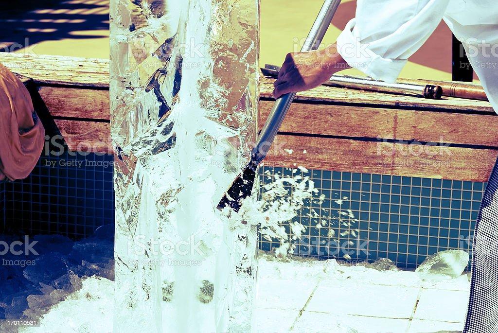 Ice sculpture stock photo