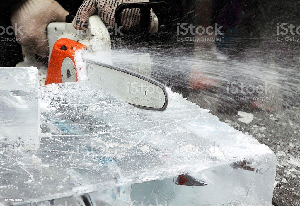 Ice Sculpturing stock photo