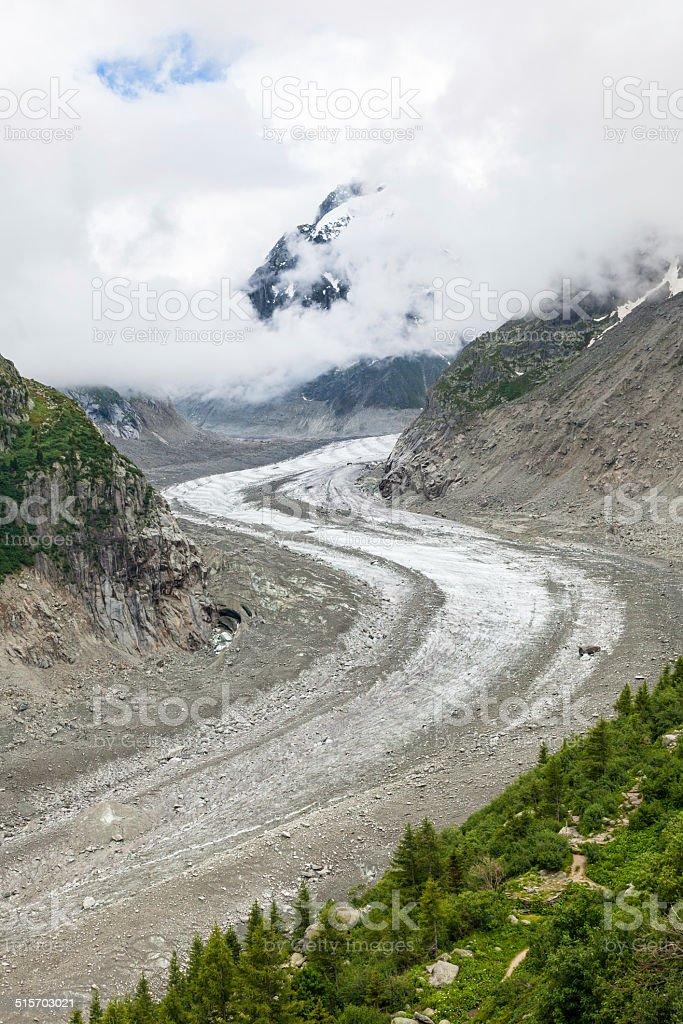 Ice Sea - 'Mer de glaces' in Chamonix - France stock photo