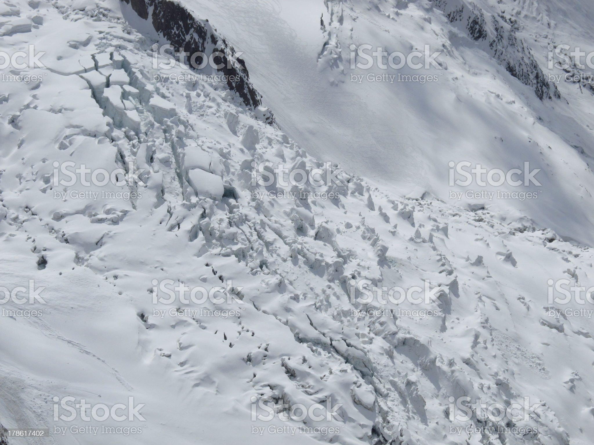 Ice seracs royalty-free stock photo