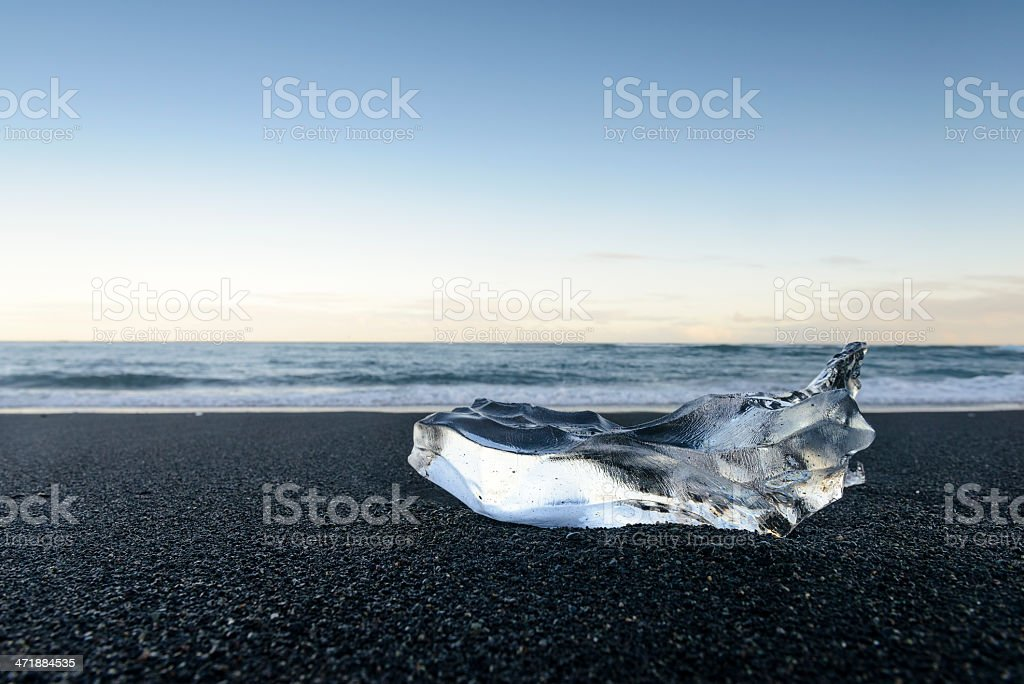 Ice shape on the beach royalty-free stock photo