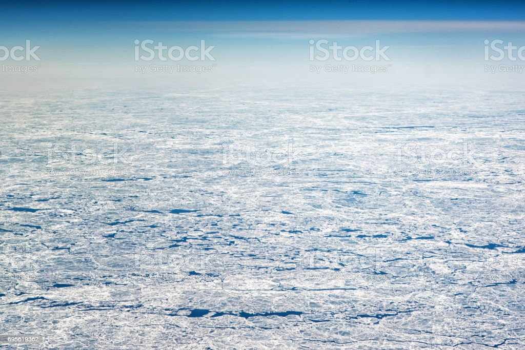 Ice Sheets as seen from high altitude stock photo