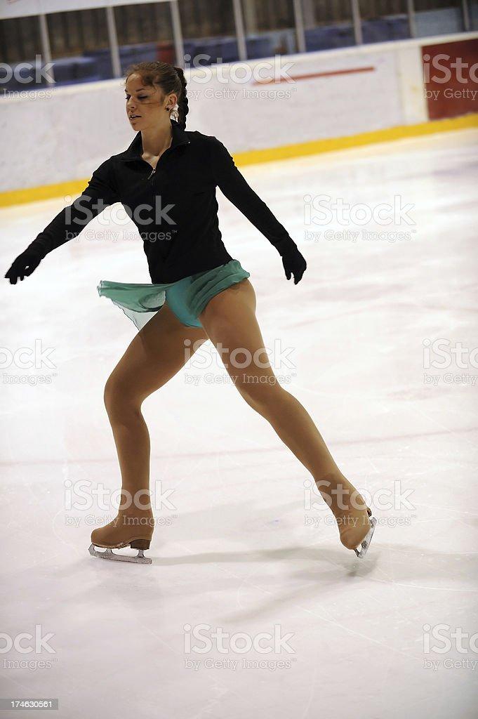 Ice skater stock photo