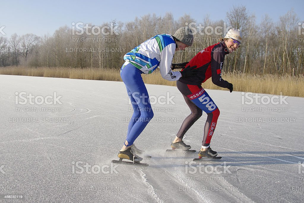 Ice skaters royalty-free stock photo