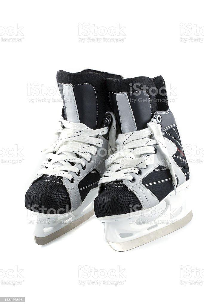 Ice skates isolated on white. royalty-free stock photo