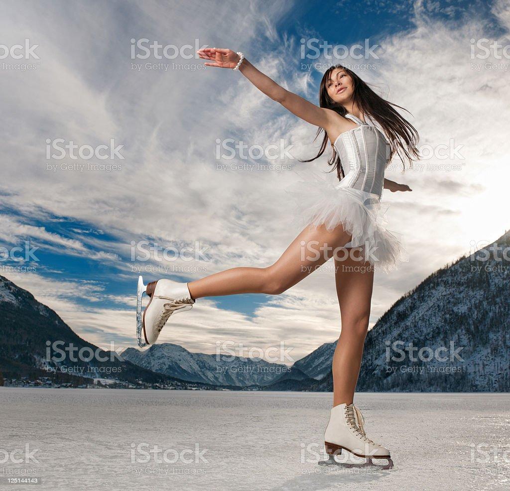 Ice Skating Beauty (XXXL) stock photo
