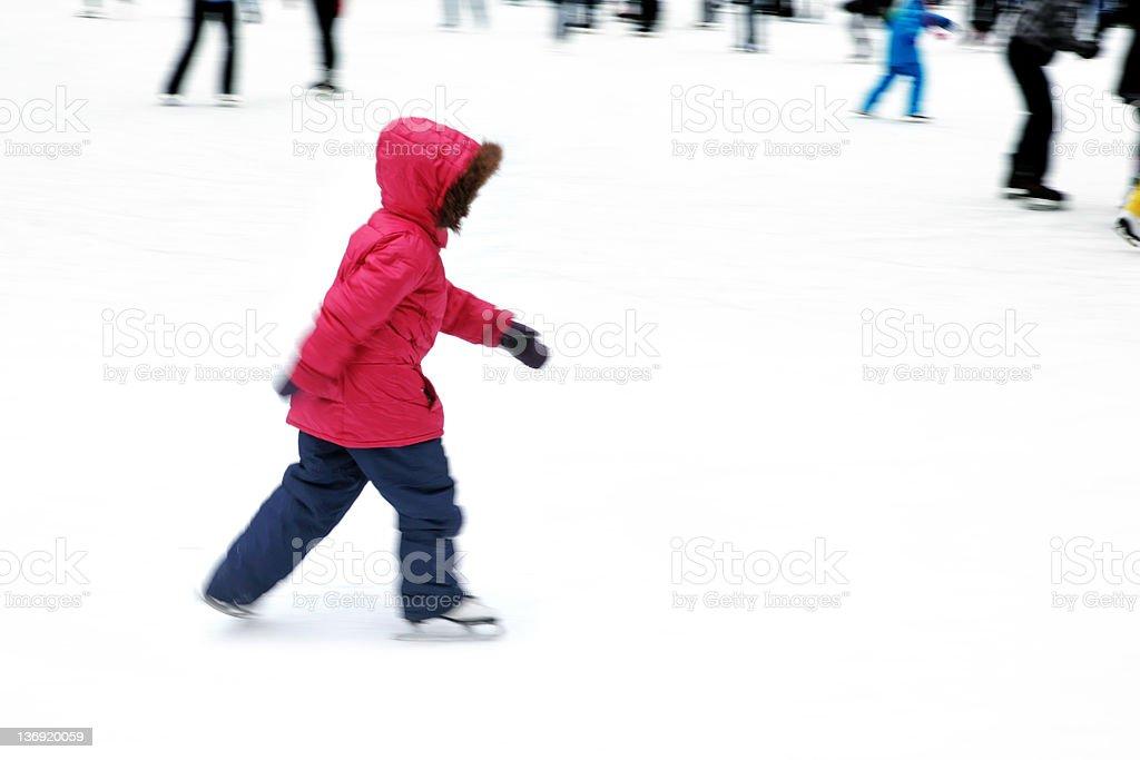 XL ice skating girl royalty-free stock photo