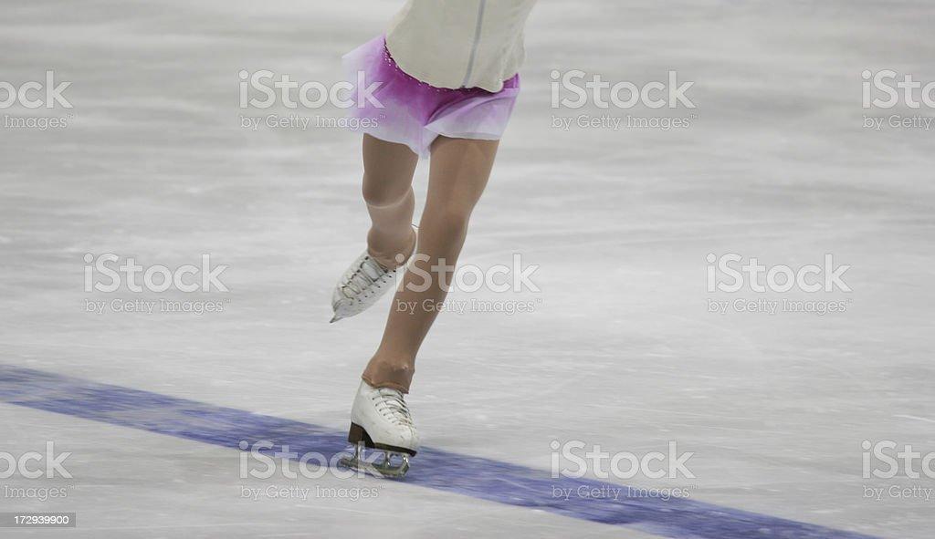 ice skating girl stock photo