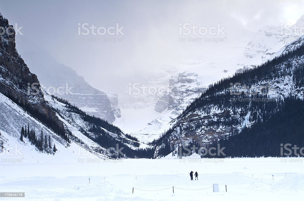 Ice Skating in the Mountains stock photo