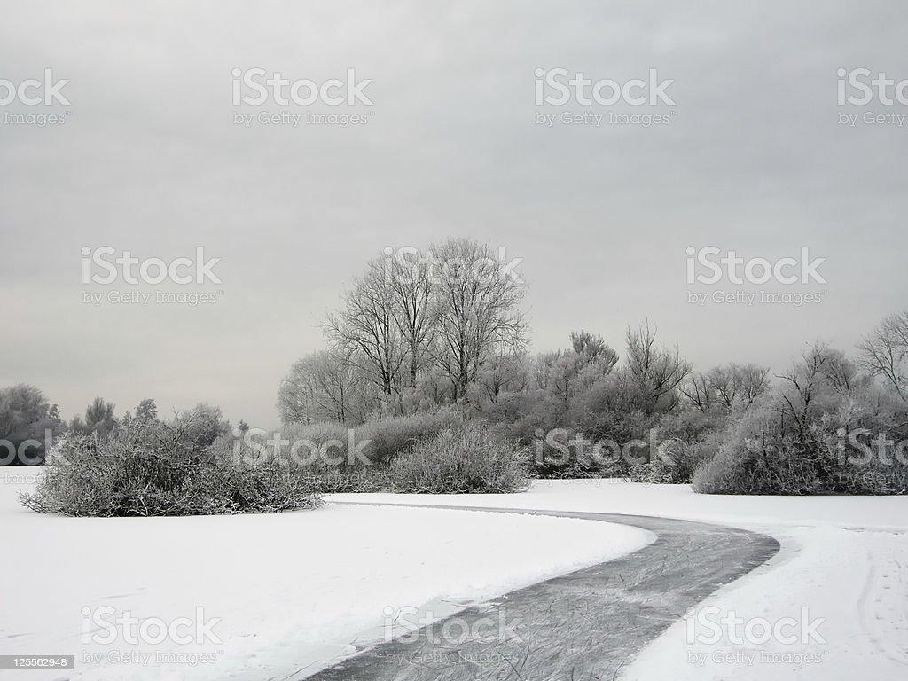 Ice skating lane stock photo