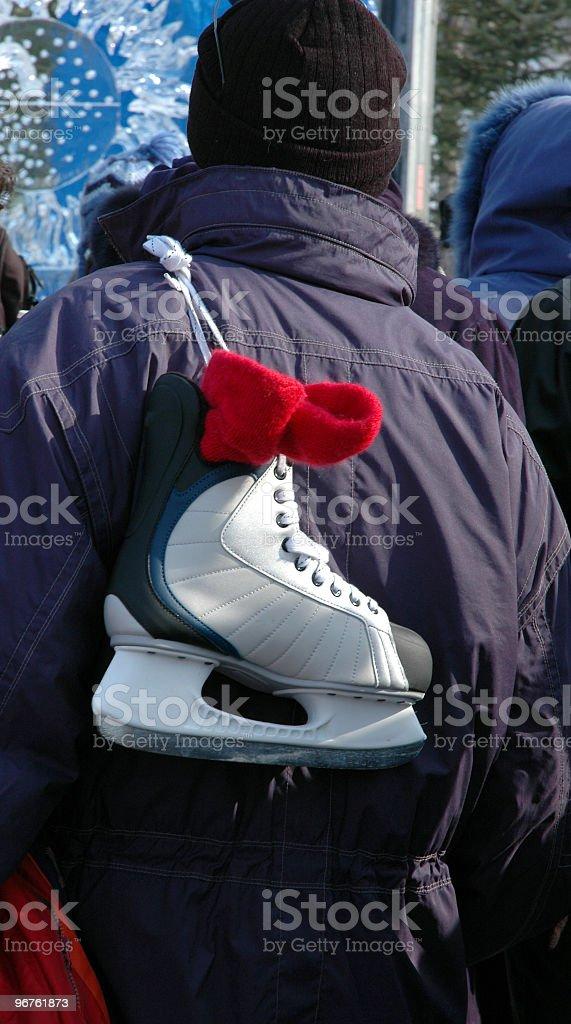 Ice Skating Man stock photo