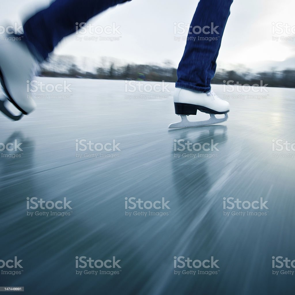 Ice skating royalty-free stock photo