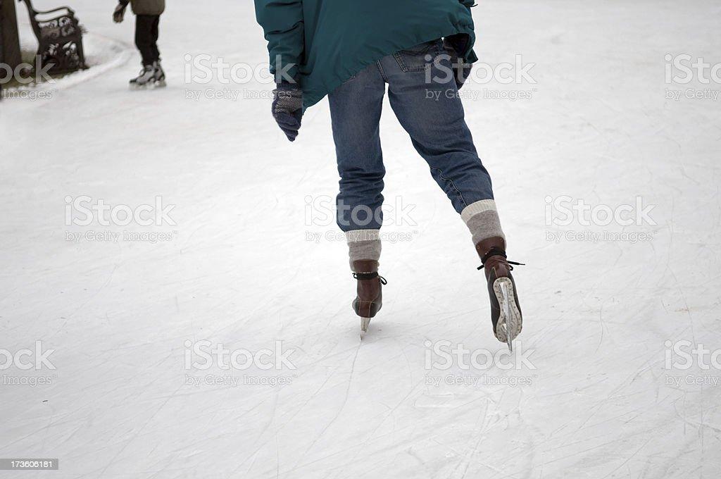 Ice skating. stock photo