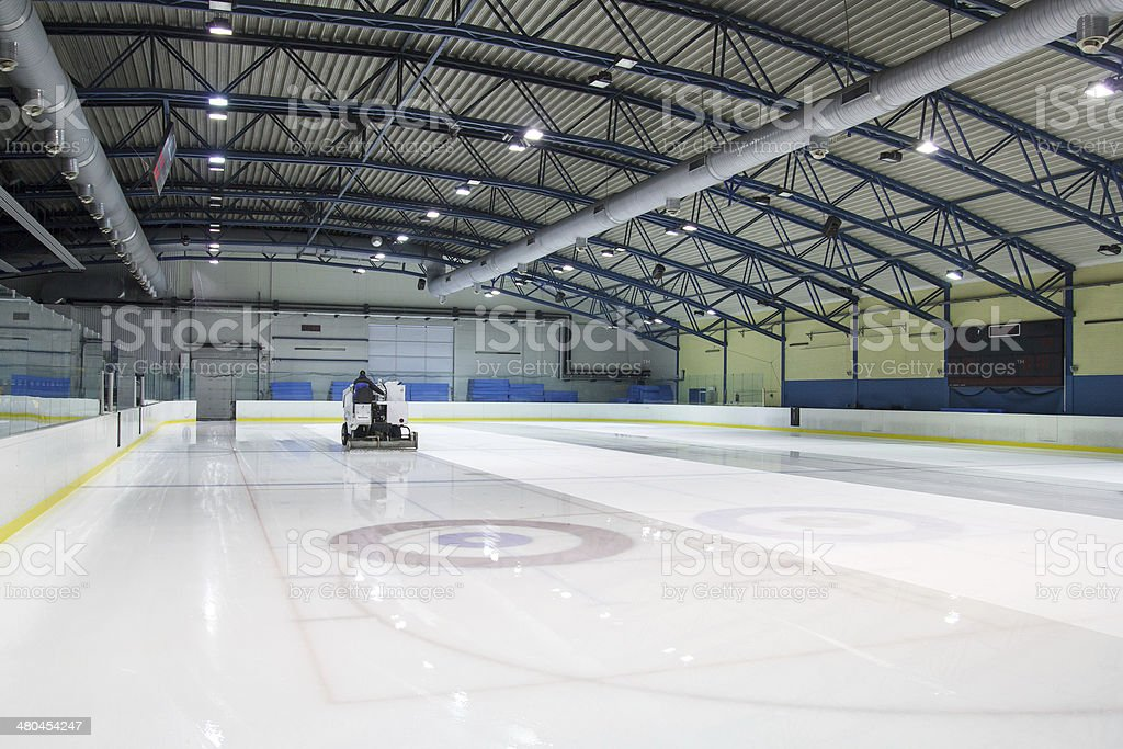 ice skating rink stock photo