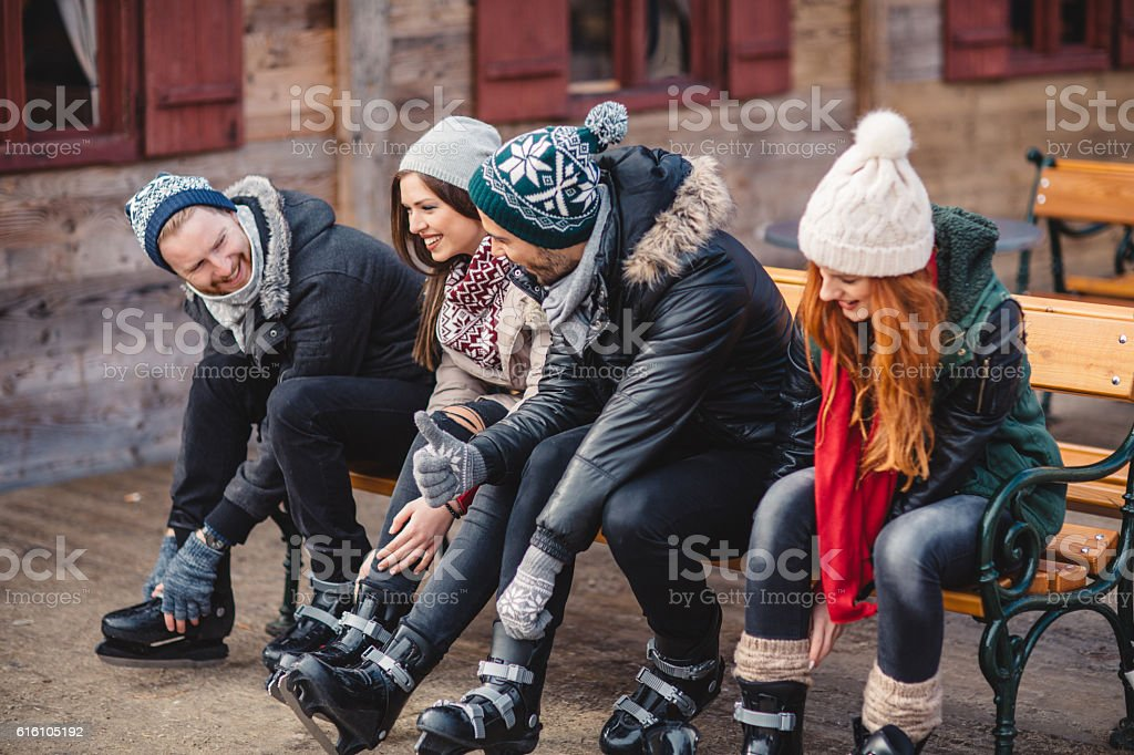 Ice skating season stock photo