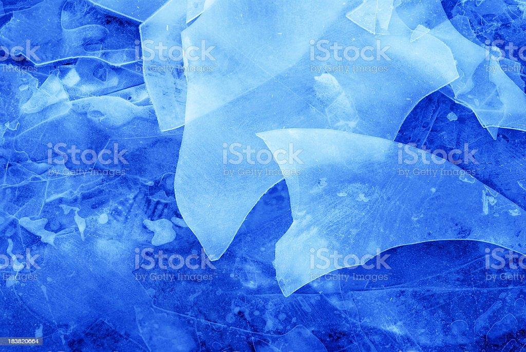 Ice slices stock photo