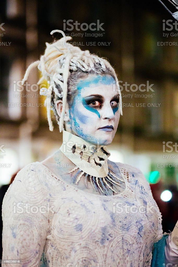 Ice Spirit at the Samhuinn Fire Festival, Edinburgh stock photo