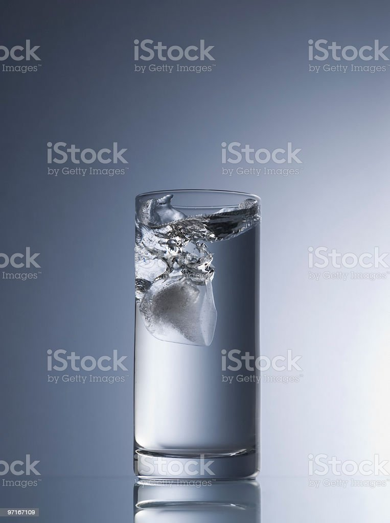 Ice splashing royalty-free stock photo