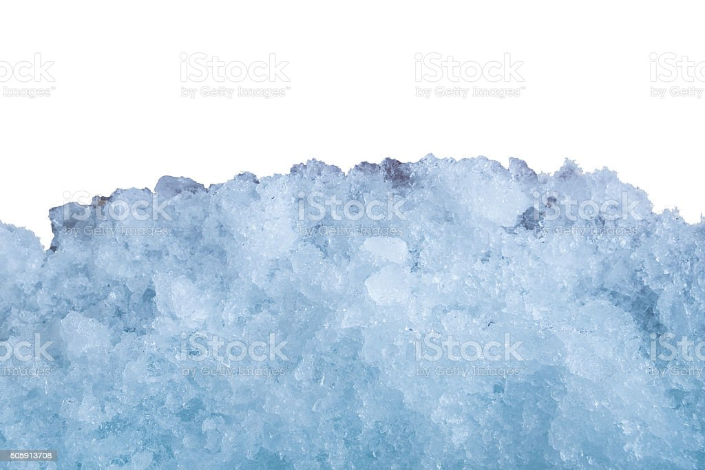 Ice stick cluster on white wall stock photo