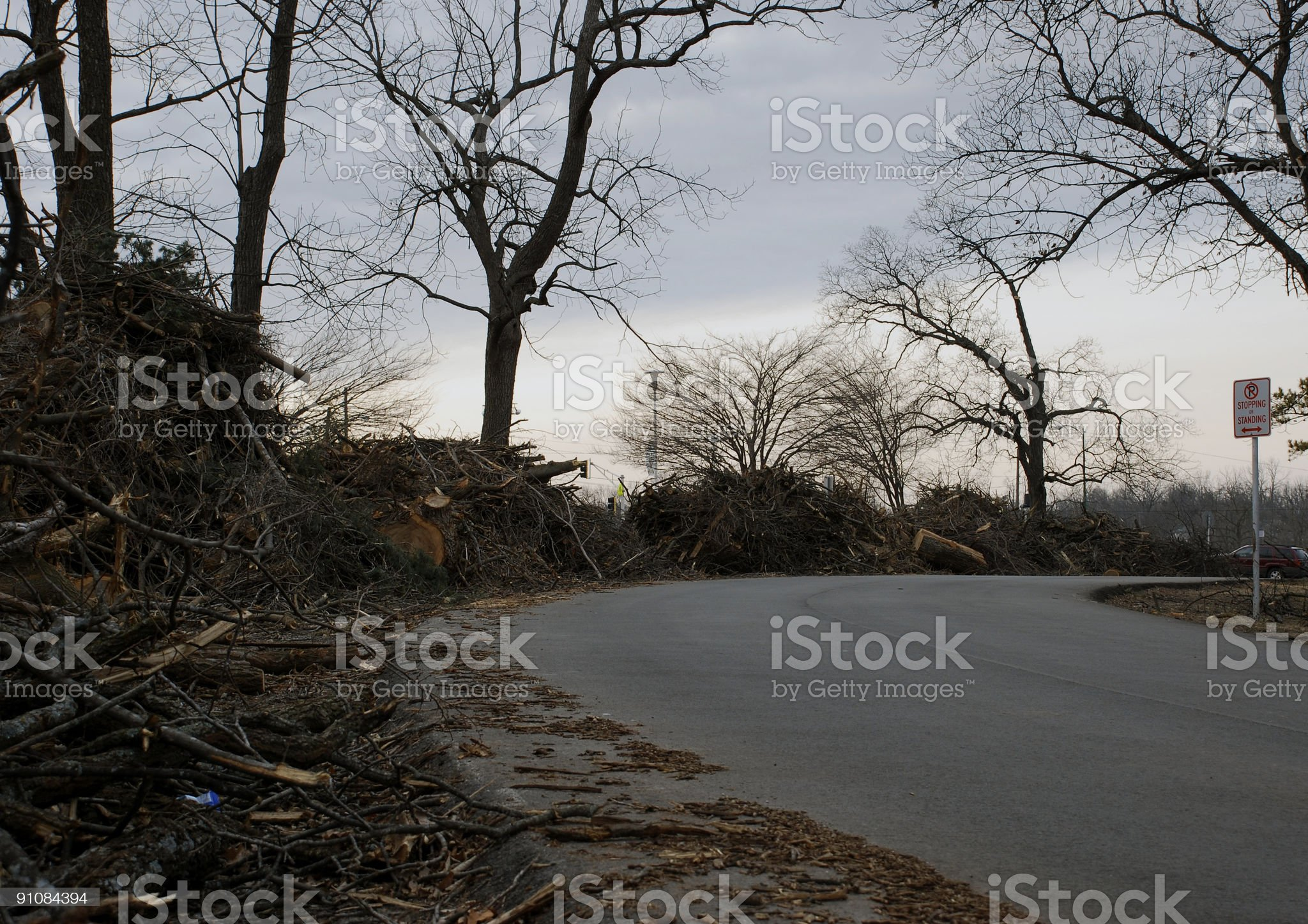 Ice Storm Clean-up royalty-free stock photo