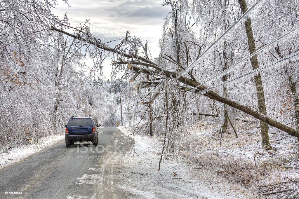 Ice Storm Danger stock photo