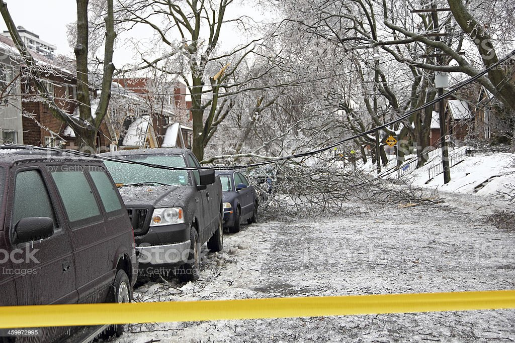 Ice Storm Emergency stock photo