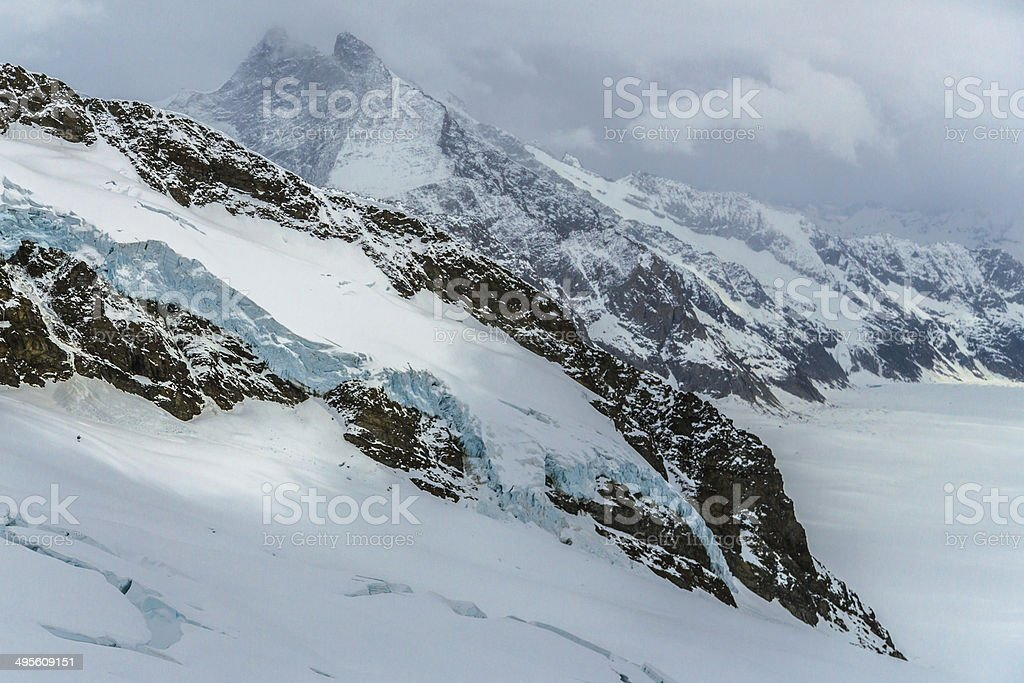 Ice Storm in Swiss Alps royalty-free stock photo