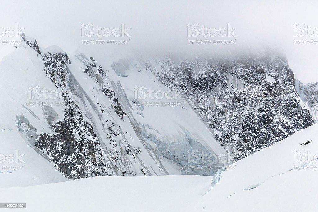 Ice Storm in Swiss Alps stock photo