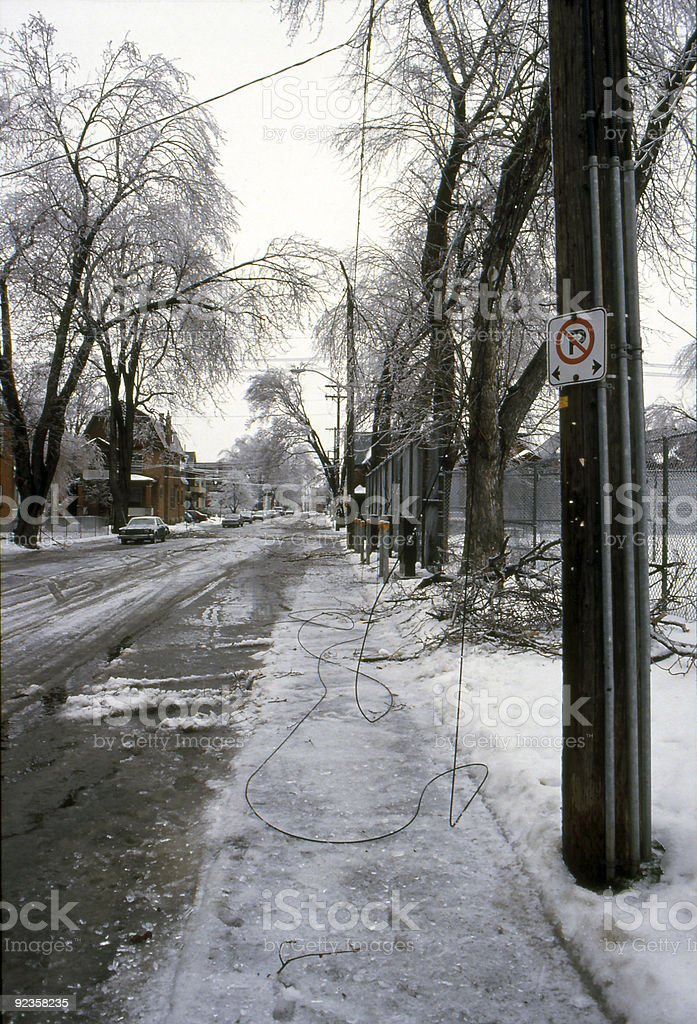 Ice Storm Lines Down royalty-free stock photo