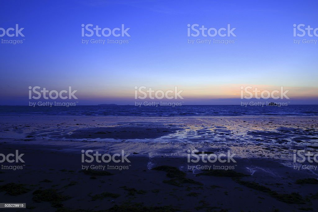 ice sunset stock photo